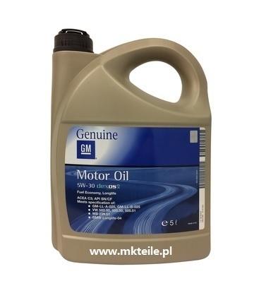 ŁOŻYSKO SKOŚNE - OIL OPEL GM dexos2 5W30 5L (1)