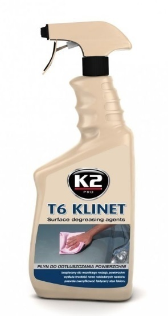 TARCZE SPRZĘGŁA - Liquid for degreasing / disinfecting surfaces K2 T6 KLINET 770ml (1)