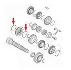 PRZEWODY URUCHAMIANIA - Spring / securing slide hub 1/2/3 - I / II / III gear - FIAT / CITROEN / PEUGEOT (2)